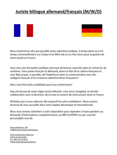 Juriste bilingue allemand-français