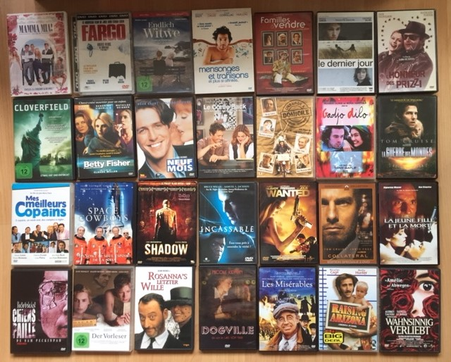 Lot DVD films